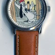 Montre, Tex Avery Droopy bracelet cuir-0