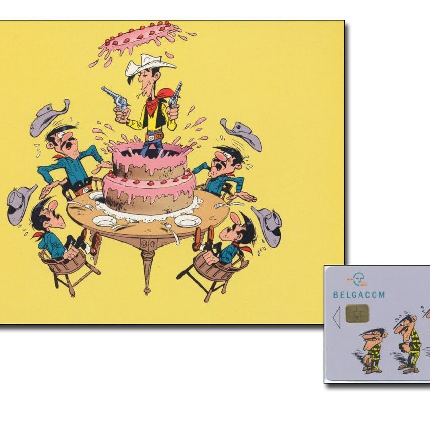 Carte de téléphone, Lucky Luke Les Daltons-0