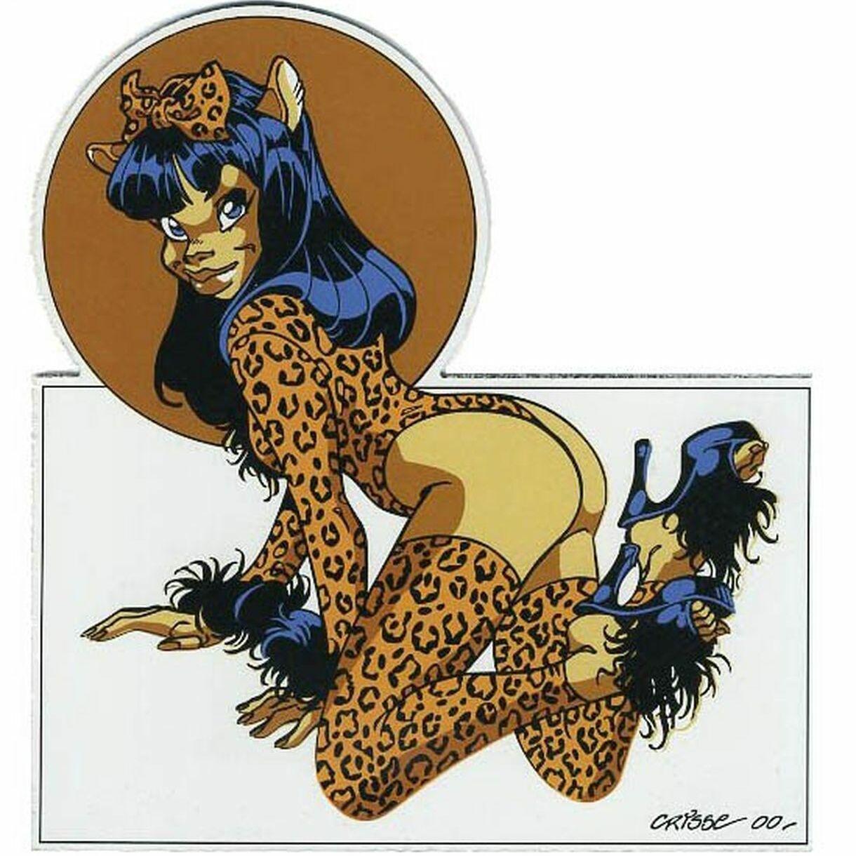 Pin-up léopard (plaque)-0