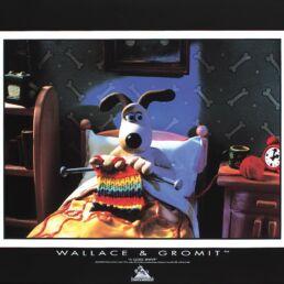 Gromit tricote au lit-0