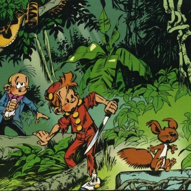 Spirou et Fantasio traversent la jungle-0
