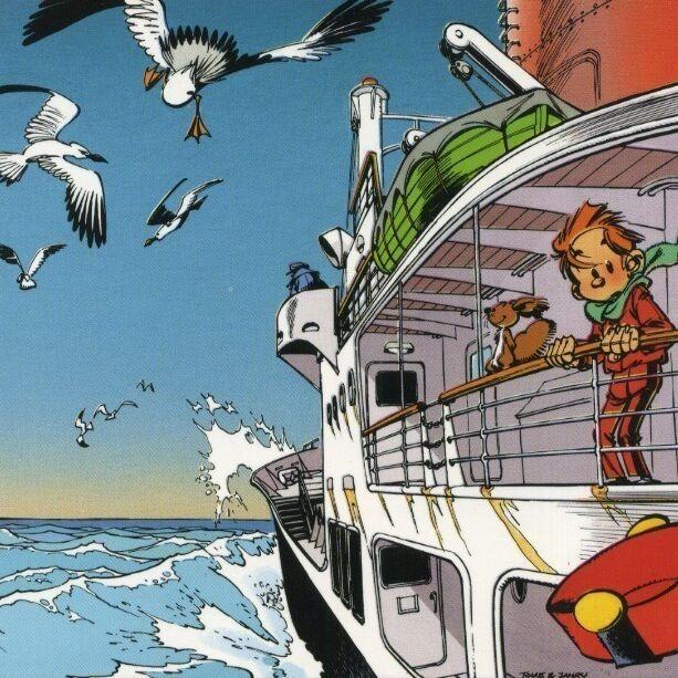 Spirou et Fantasio en bateau-0