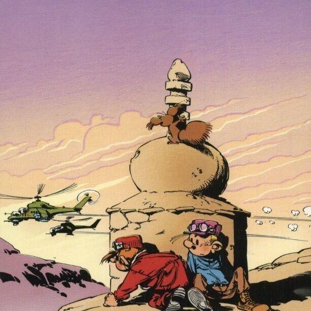 Spirou et Fantasio enquêtent dans le désert-0