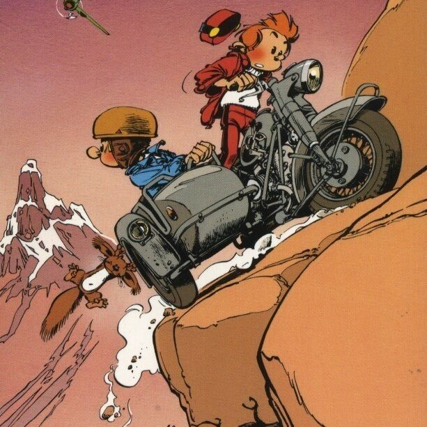 Spirou et Fantasio, poursuite en side car-0