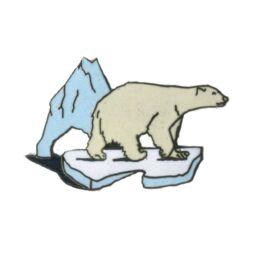 Ours polaire sur morceau de glace-0