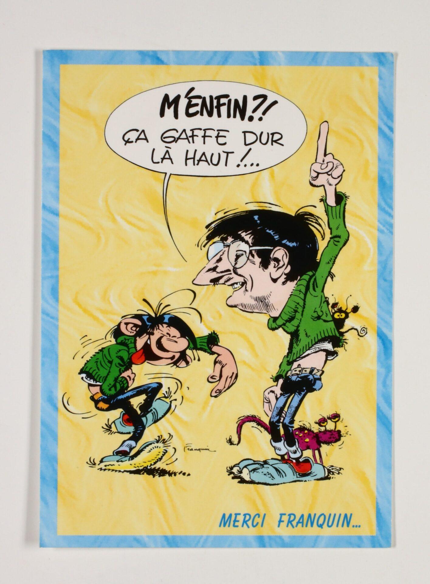 Hommage à Franquin ''M'enfin?! Ca gaffe dur là haut !
