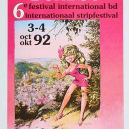 Affiche publicitaire '6ème Festival International BD de Durbuy 1992' par Dany Numéroté et signé !-0