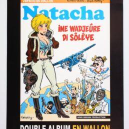 Affiche publicitaire en wallon 'Natacha Ine Wadjeûre di sôlêye' par Walthéry-0