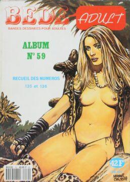 Bédé Adult N°59, Recueil de 2 numéros : n°135 et n°136-0