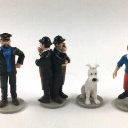 Tintin, Milou, Le capitaine Haddock et les Duponts-0