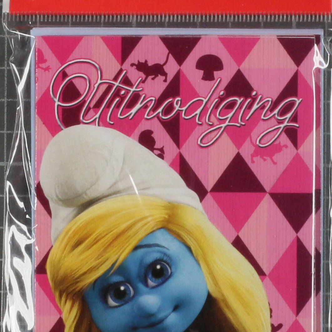 6 uitnodigingen Smurfette (movie)-0