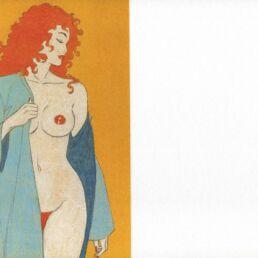 Carte de voeux : Rousse dénudée-0
