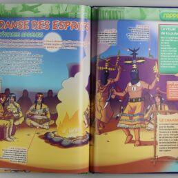 Playmobil, aventure de l'histoire, les grandes guerrières du moyen âge. La bd accompagnée de son Playmobil, l'indien Apache-413567