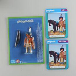 Playmobil, aventure de l'histoire, les grandes guerrières du moyen âge. La bd accompagnée de son Playmobil, l'indien Apache-413568