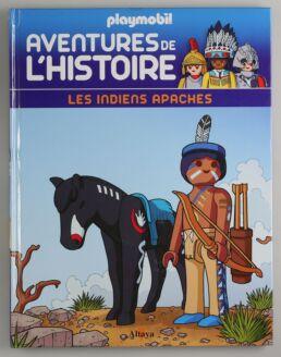 Playmobil, aventure de l'histoire, les grandes guerrières du moyen âge. La bd accompagnée de son Playmobil, l'indien Apache-413565