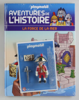 Playmobil, aventure de l'histoire, les grandes guerrières du moyen âge. La bd accompagnée de son Playmobil, le soldat Anglais-0
