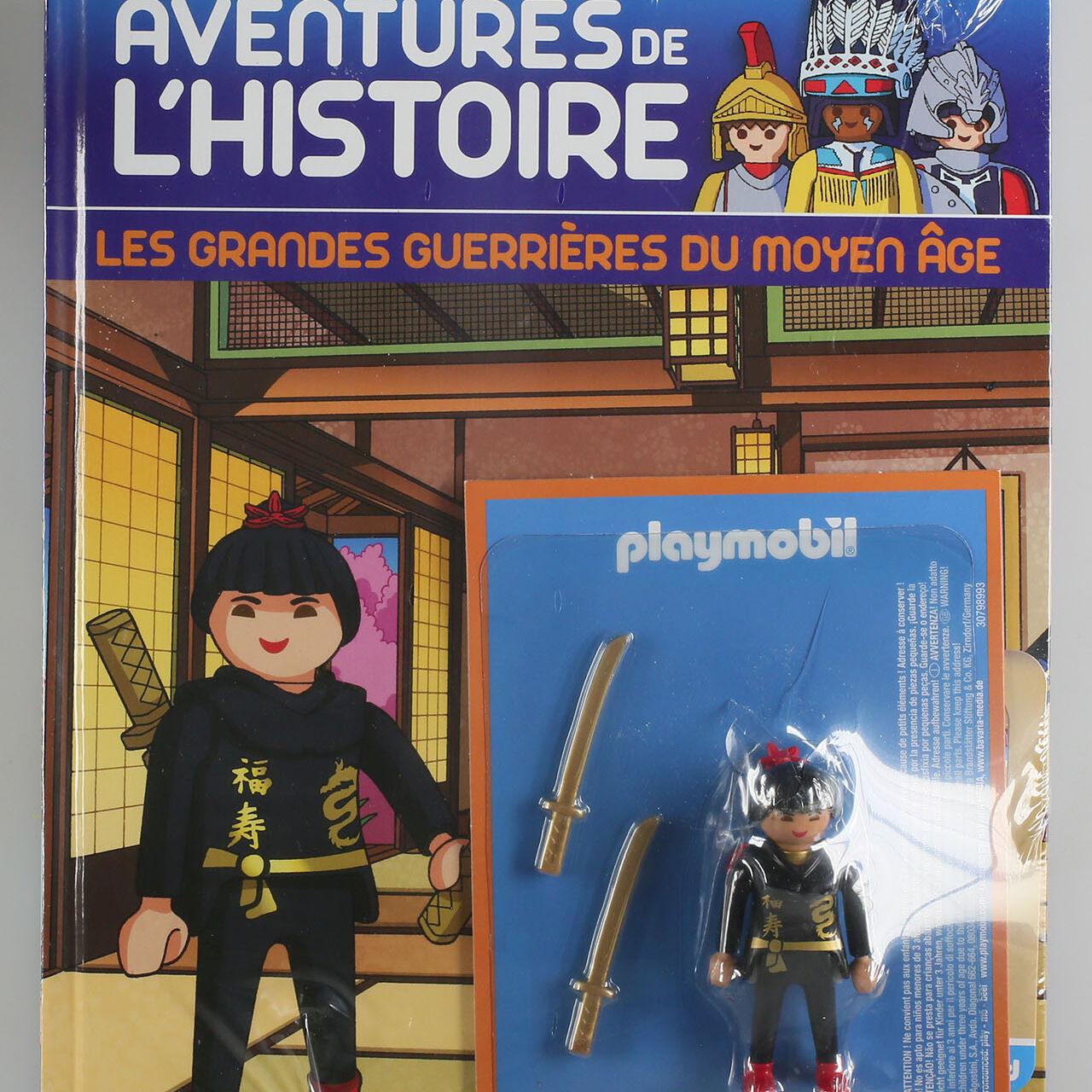 Playmobil, aventure de l'histoire, les grandes guerrières du moyen âge. La bd accompagnée de son Playmobil, Ninja.-0