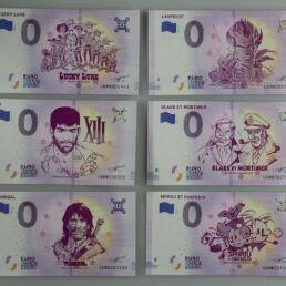 Assortiment 6 Billets Bd Euro Souvenir 0,00€-0
