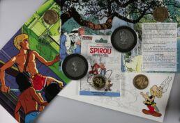 Assortiment de 6 Médailles; Spirou et Fantasio (2), Lucky Luke, Alix, Largo Winch et Astérix-0