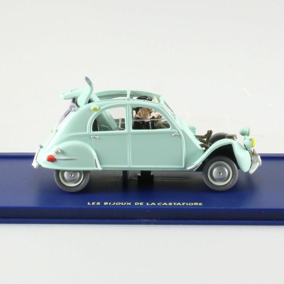 La Citroën 2CV emboutie, Les bijoux de la Castafiore, 1954, 1/43