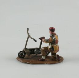 Comando parachutiste et sa Welbike, Arnhem