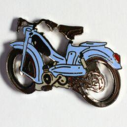 Mobylette bleu ciel selle noire