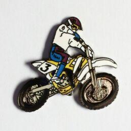 Moto de cross blanche