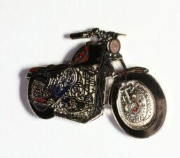 Moto noire et rouge