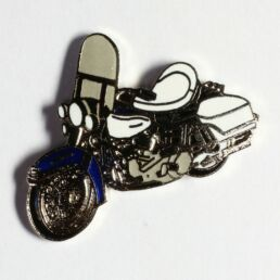 Moto Harley-Davidson, noire selle blanche