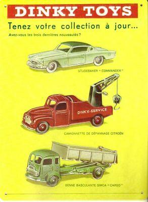 Dinky Toys, plaque publicitaire en métal