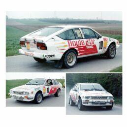 Décalcomanie pour miniature 1/43 Alfa GTV - Rallye de Wallonie 1985 - G. GOUDEZEUNE- S. MESSINE