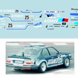 Décalcomanie pour miniature 1/43 BMW 635 - 24 heures de SPA 1983 - A. PELIER - A. CUDINI -D. SNOBECK
