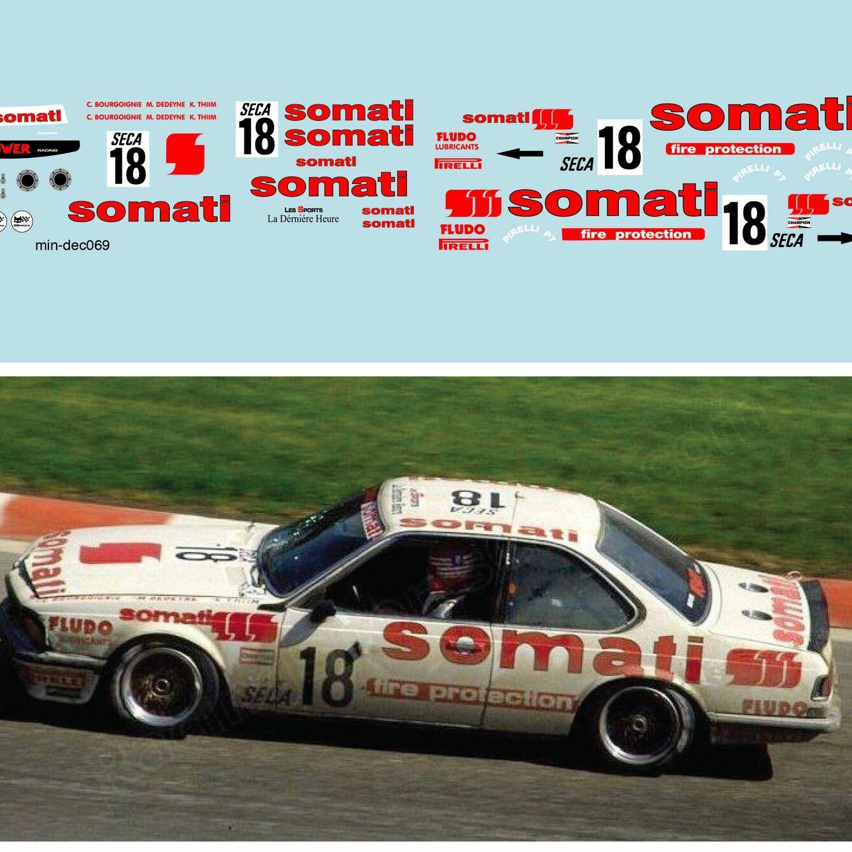 Décalcomanie pour miniature 1/43 BMW - 24 heures de SPA 1984 - M. DE DEYNE -C.BOURGOIGNIE-K.THIM