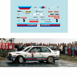 Décalcomanie pour miniature 1/43 BMW M3 - Ypres Rally 1987 - M. DUEZ - G.BIAR