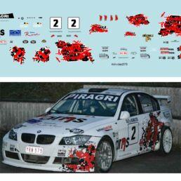 Décalcomanie pour miniature 1/43 BMW 320 - Circuit des Ardennes 2012 - J.SCAILLET -W.MERGNY