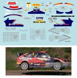 Décalcomanie pour miniature 1/43 FORD FOCUS WRC - Rallye d'Allemagne 2010 - F. DUVAL -D. GIRAUDET
