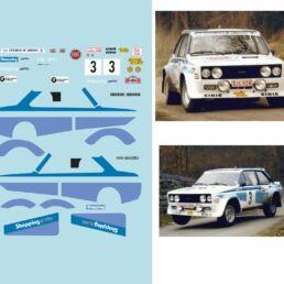 Décalcomanie pour miniature 1/43 FIAT 131 - Circuit des Ardennes 1980 - DIDI-PAULY