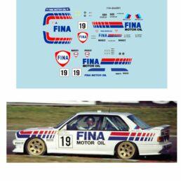 Décalcomanie pour miniature 1/43 BMW M3 - 24 heures de SPA 1989 #19 - D. THEYS-M.DUEZ-S. SOPER