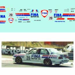 Décalcomanie pour miniature 1/43 BMW M3 - 24 heures de SPA 1989 - #20 F. CHATRIOT -G. DE MEVIUS- J.ALLAM