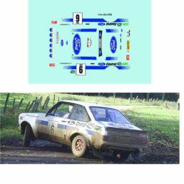 Décalcomanie pour miniature 1/43 FORD ESCORT MKII LIMBURGIA - Rally 1982 - R. DROOGMANS-R. JOOSTEN