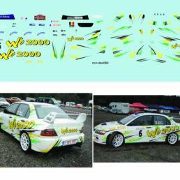 Décalcomanie pour miniature 1/43 MITSUBISHI EVO IX WINNER - Rallye des Cretes 2016 - M.ALBERT -W.MERGNY