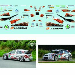 Décalcomanie pour miniature 1/43 SKODA WRC WINNER - Rallye de la Semois 2015 E.CUNNIN - V.PALIZEUL