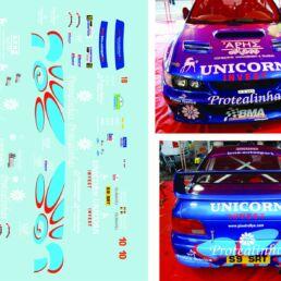 Décalcomanie pour miniature 1/43 SUBARU IMPREZA WRC - Rallye du Condroz 2009