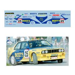 Décalcomanie pour miniature 1/43 BMW M3 E30 - Ypres 1991
