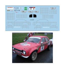 Décalcomanie pour miniature 1/43 FORD ESCORT MKI - Boucles de Spa 2012
