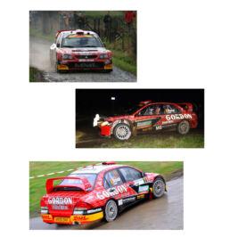 Décalcomanie pour miniature 1/43 MITSUBISHI WRC - Rallye Condroz 2009