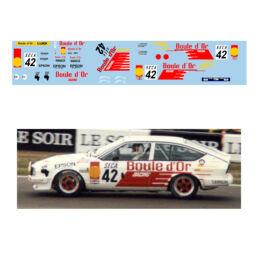 Décalcomanie pour miniature 1/43 ALFA GTV 42 - Rallye de Spa 1985