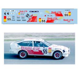 Décalcomanie pour miniature 1/43 ALFA GTV 55 - Rallye de Spa 1985