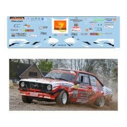Décalcomanie pour miniature 1/43 FORD ESCORT MKII - Rallye de Wallonie 2016