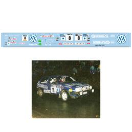 Décalcomanie pour miniature 1/43 VW GOLF 2 GTI - Boucles de Spa 1989